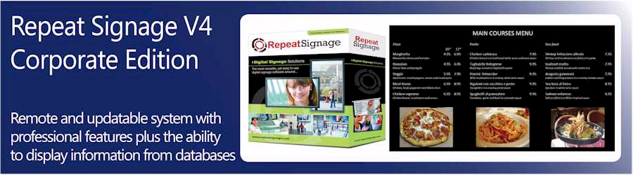 Repeat Signage Corporate software