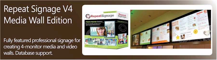 Repeat Signage media wall software