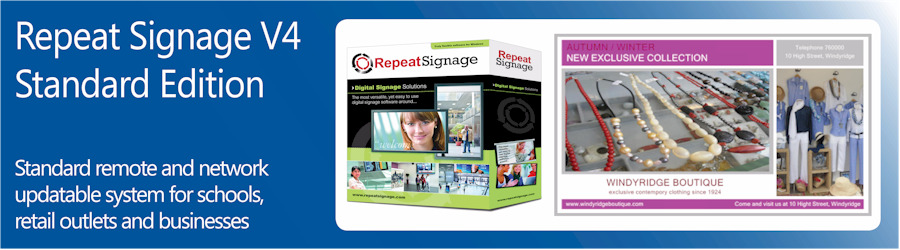 Repeat Signage Standard software
