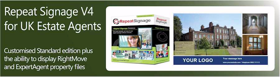 Repeat Signage for UK estate agencies