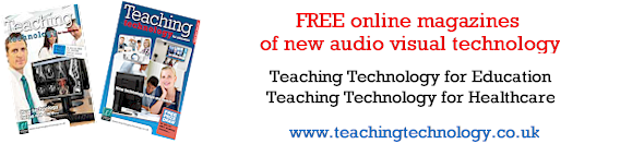 Free online magazines Teaching Technology for Education and Teaching Technology for Healthcare.  Subscribe free to Teaching Technology.  Magazines free to download at www.teachingtechnology.co.uk