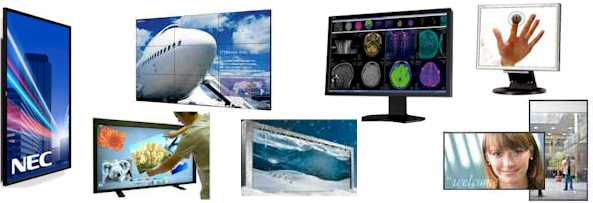 LCD monitors from leading manufacturers including: 3M, AG Neovo, LG, Mitsubishi, NEC, Samsung, Sanyo, Sharp and Sony